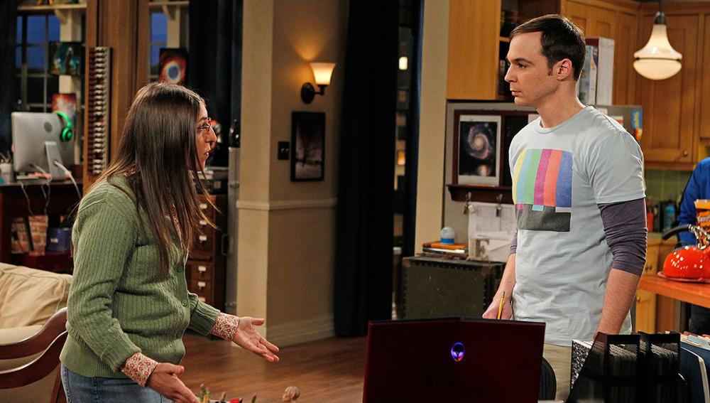 Amy discute con Sheldon