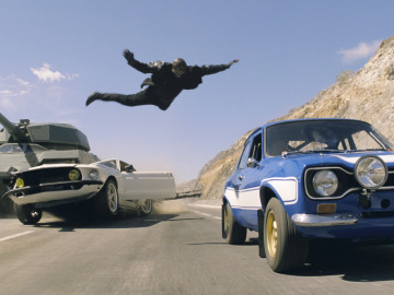 Una escena de la saga 'Fast and Furious'