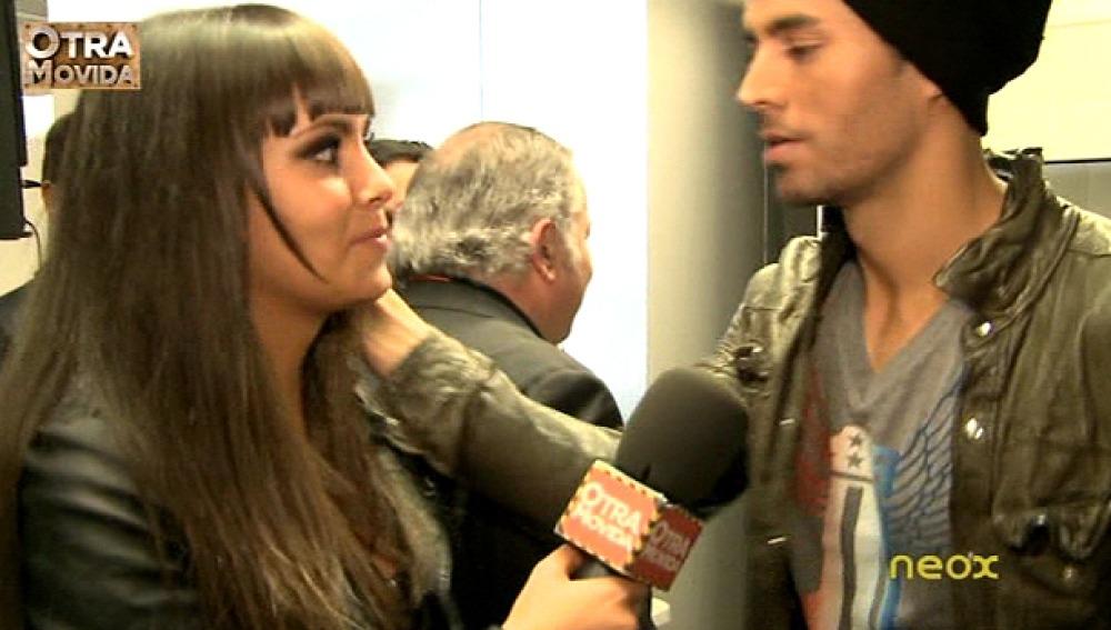 Enrique Iglesias con Cristina Pedroche