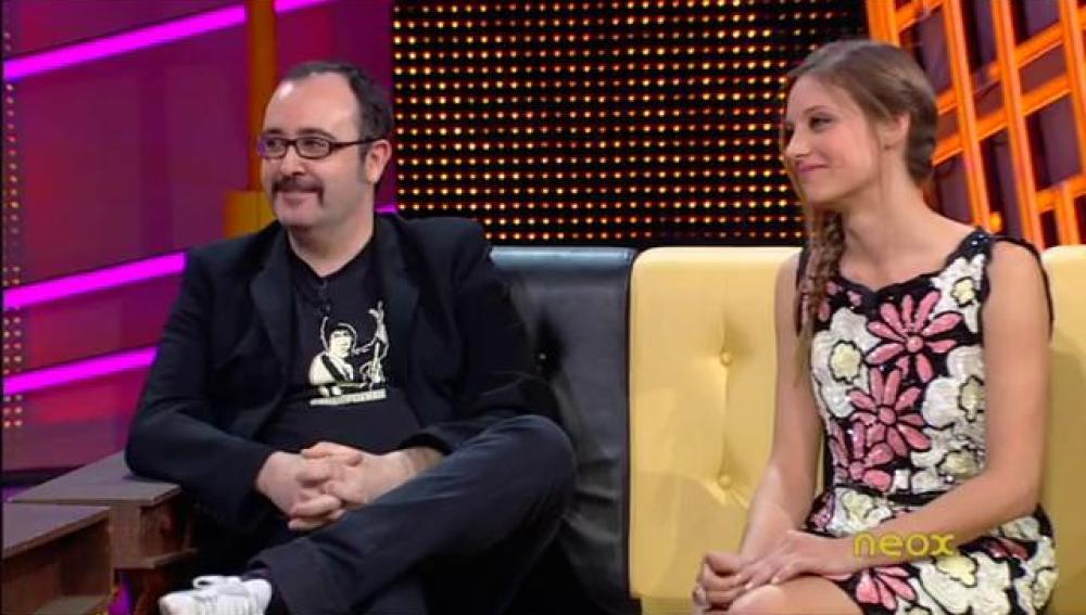 Carlos Areces y Michelle Jenner