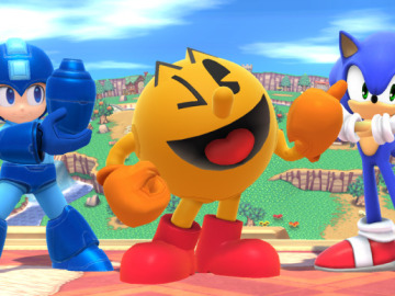 Megaman, Sonic y Pacman en Smash Bros.