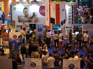 Gamers disfrutando en la Madrid Games Week