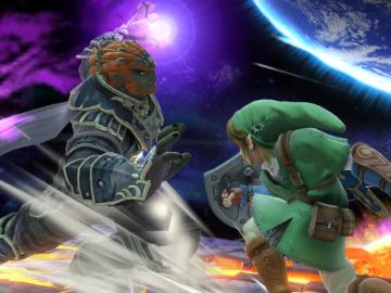 Ganondorf contra Link en Wii U