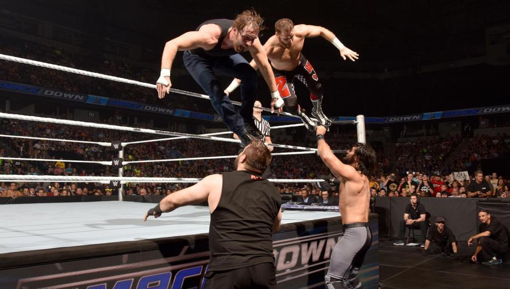 Rollins y Owens se imponen al equipo del campeón Ambrose y Zayn en 'SmackDown'