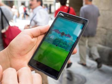 Vista del juego 'Pokémon Go' en un smartphone