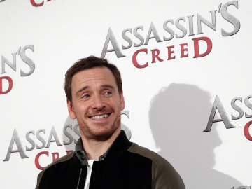 Michael Fassbender en una presentación de 'Assassin's Creed'