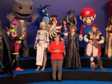 Angela Merkel en la Gamescom 2017