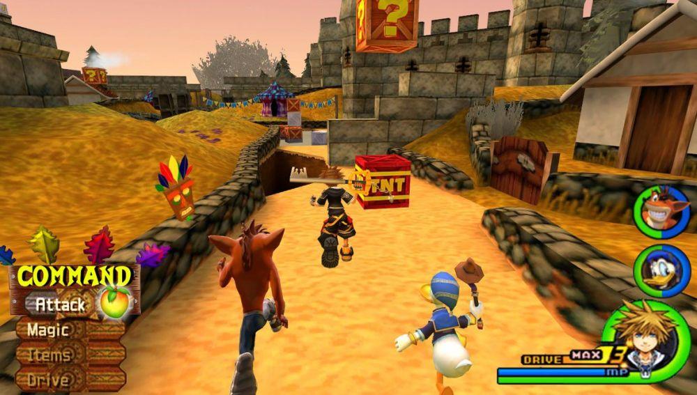Mundo de Crash Bandicoot en Kingdom Hearts