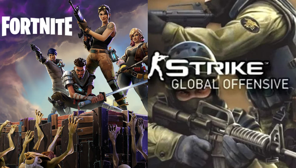 Fortnite y Counter-Strike: Global Offensive