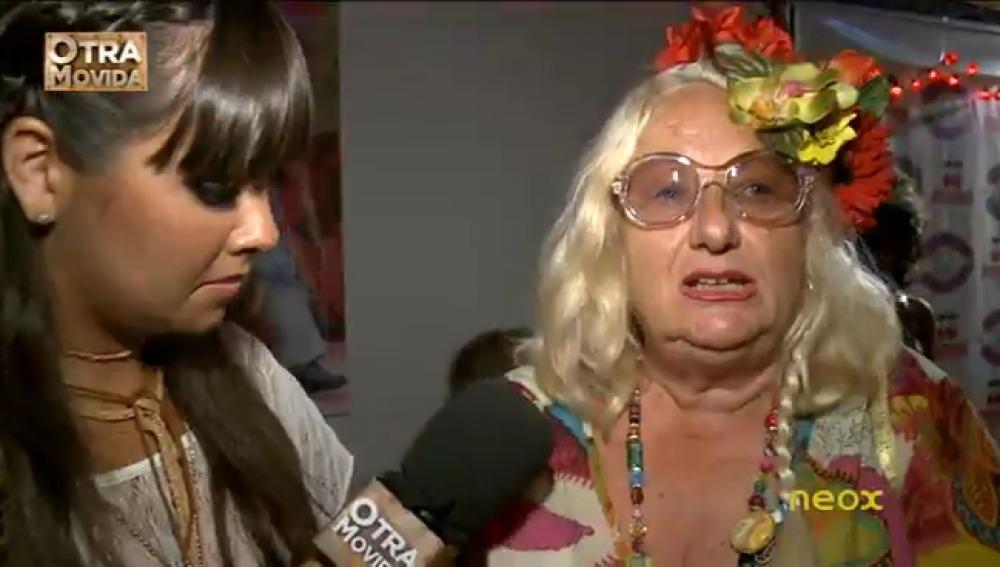 Cristina Pedroche en la fiesta Hippie