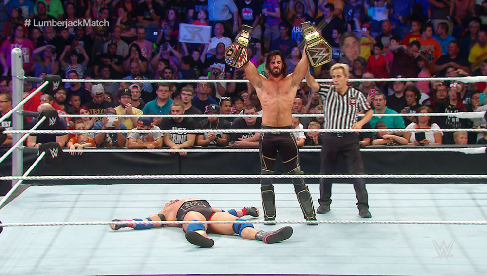 Seth Rollins ganó a Ryback