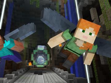 Minijuego Glide de Minecraft
