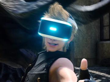 Prompto con las gafas de VR