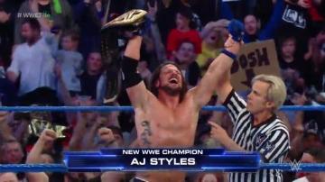AJ Styles se coronó campeón de la WWE en Inglaterra