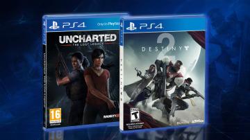 Llévate a casa estos dos juegos: Uncharted El Legado Perdido y Destiny 2
