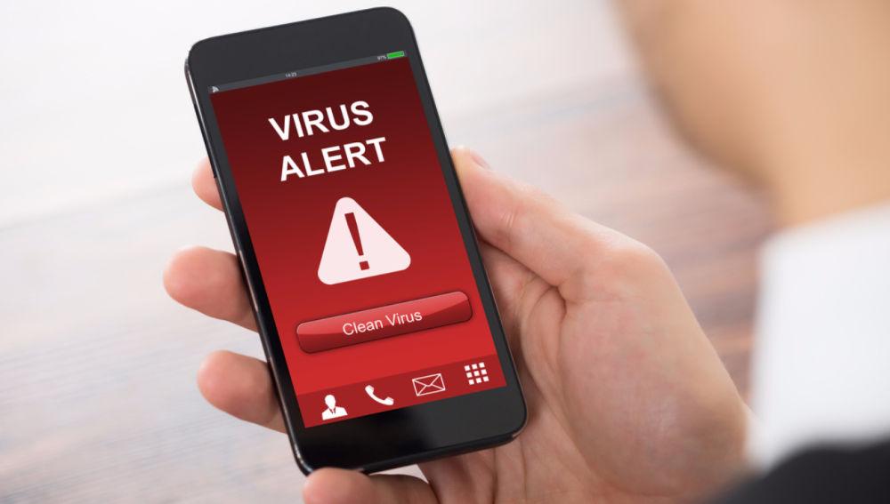 Alerta de virus en el móvil