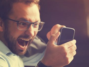 Enfado con el móvil