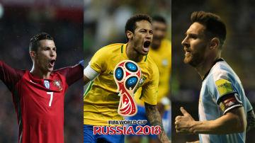 Ronaldo, Neymar y Messi