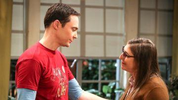 Sheldon y Amy en 'The Big Bang Theory'