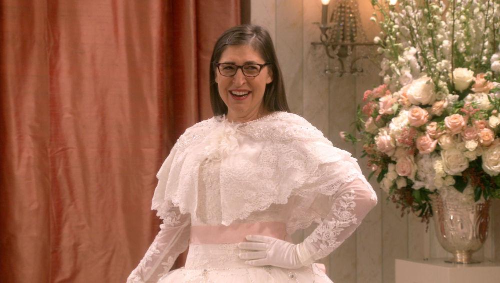 Amy eligiendo vestido de novia